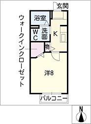 GEMINATION SS A[1階]の間取り