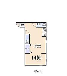 オリエントシティ堺東[203号室]の間取り