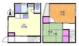 [テラスハウス] 神奈川県川崎市多摩区菅5丁目 の賃貸【/】の間取り
