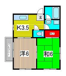 サンハイツ太田窪[201号室]の間取り