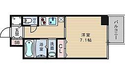 アール大阪グランデ[7階]の間取り