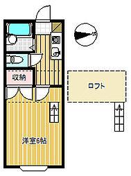 信開セルーラ駅南S[210号室]の間取り