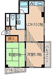 ジンマンション[2階]の間取り
