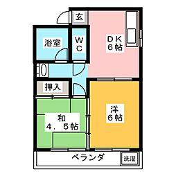 花崎マンション[3階]の間取り
