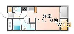 広島県福山市千田町の賃貸アパートの間取り