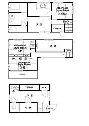 [一戸建] 神奈川県相模原市南区相武台2丁目 の賃貸【/】の間取り