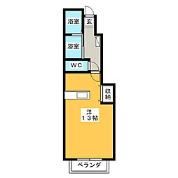 静岡県焼津市西小川1丁目の賃貸アパートの間取り