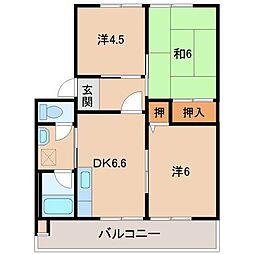 アネーロあおきII[2階]の間取り