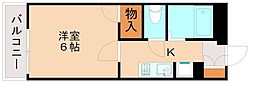 レオパレスルナ51[1階]の間取り