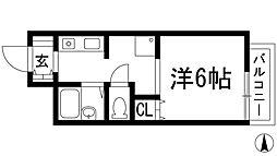 兵庫県宝塚市塔の町の賃貸アパートの間取り