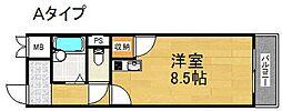 エスポワール御崎[4階]の間取り