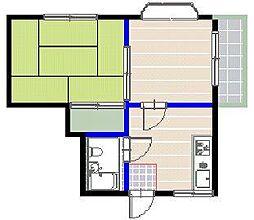 リバブルハイツ[2階]の間取り