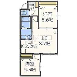 Pine Residence N32[1階]の間取り