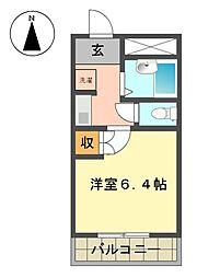 レジデンスオーミ第2[2階]の間取り