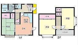 [テラスハウス] 神奈川県相模原市中央区陽光台5丁目 の賃貸【神奈川県 / 相模原市中央区】の間取り