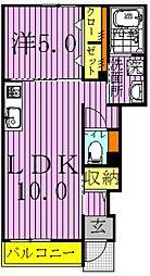 ブルックヒルズIII[1階]の間取り