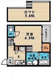 (仮称)旭区高殿六丁目B・SKHコーポ[201号室号室]の間取り