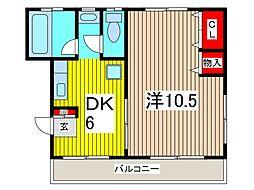 本町スカイコーポ[3階]の間取り