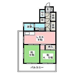第2小舘ビル[3階]の間取り