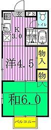 コーポあけぼの(2丁目)[201号室]の間取り