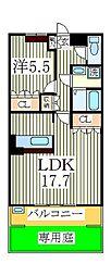 ティープラント2[1階]の間取り