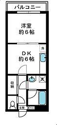 ヴェルテーユ中野[1階]の間取り