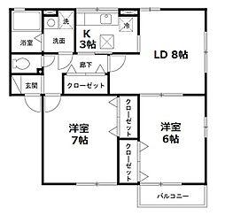 セジュール柴垣[2階]の間取り