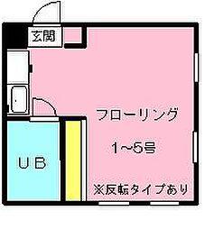 グレイハウス[104号室]の間取り
