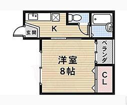 中井ハイツ[1階]の間取り