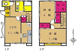 [タウンハウス] 東京都町田市南成瀬2丁目 の賃貸【/】の間取り
