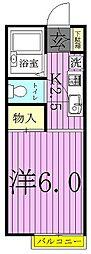 パレスWING[1階]の間取り