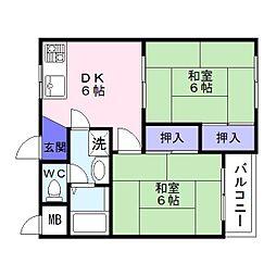 仲谷マンション[3階]の間取り