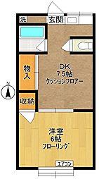 第二日興荘[1階]の間取り