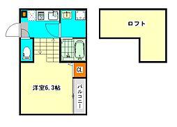 仮称)東区矢田1丁目新築デザイナーズ[2階]の間取り