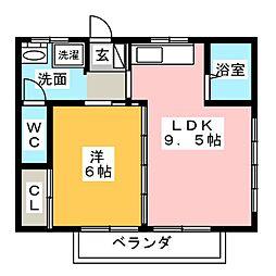 アビタシオン大八木[2階]の間取り