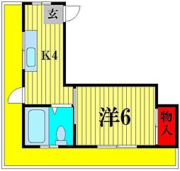 松戸カネカビル[5階]の間取り