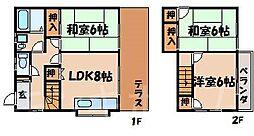 [テラスハウス] 広島県広島市安芸区矢野西6丁目 の賃貸【/】の間取り