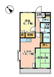 ノーブルパレスII[2階]の間取り