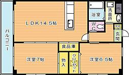 クレフォート皇后崎[5階]の間取り