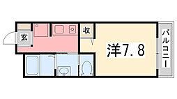 サニーガーデン[105号室]の間取り