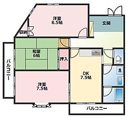 シャンス東寺尾中台10[3階]の間取り
