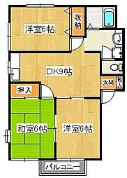 コスモハイツA[2階]の間取り
