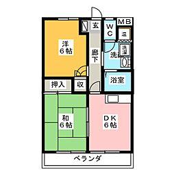 メゾン穂波[4階]の間取り