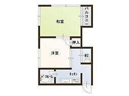 山田ハイツ[2号室]の間取り