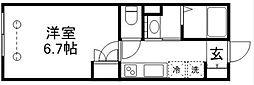 JR中央線 吉祥寺駅 徒歩8分の賃貸マンション 3階1Kの間取り