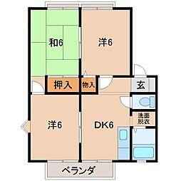 コンフォート土屋[2階]の間取り