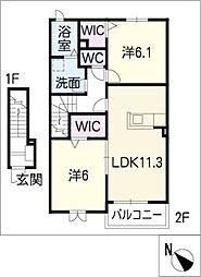 リバティ II[2階]の間取り