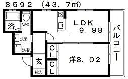 R'z Village(アールズヴィレッジ)N棟[101号室号室]の間取り
