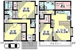 [一戸建] 東京都杉並区上井草4丁目 の賃貸【/】の間取り