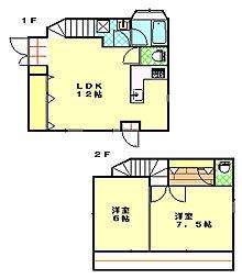 [一戸建] 神奈川県横須賀市二葉1丁目 の賃貸【/】の間取り